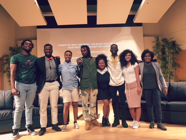 "From left: Paul Loriston, Jaren Stewart, Raina Nelson, Miles Iton, Giulia Heyward, Cheikhou Kane,  Leen Al-Fatafta, Shakira Refos    SINCERELY, THE BLACK KIDS debuted at New College of Florida's Sainer Auditorium for a premiere test screening on May 12, 2018.    Finally, after months of blowing up inboxes all across the Florida coast, the team behind ""Sincerely, the Black Kids"" was ready to let the gem shine on the city. Shakira, Eduardo and I spent the month after the Sundance co-sign finishing the first cut of our film. New College, the host of all inchoate stages of the project, seemed fit to be the first to see the results of how I spent their Student Research and Travel Grant (thanks, NCF Foundation! Here's your plug by the way). The Sainer Auditorium on their Caples campus boasted an intimate stage + projection hall capable of seating approximately 260 audience members. For my own personal sentiments, I wanted to fill that room.  May 12 was the Saturday before New College of Florida's class of 2018 graduation ceremony the following Friday. Sincerely, the Black Kids would be my last obligation to the school; while we looked forward to beginning a journey towards the film's success, I also moved towards closing the chapter of my life that gave us the film in the first place. There were many sentiments attached to having a debut at my home institution, but the predominant thought remained on the need to stunt on everyone who had roasted my Philosophy degree up to that point. Thus, May 12 was set aside for stuntin', and we made it known thanks to some good looks from the NCF Tangent and Sarasota Herald-Tribune."