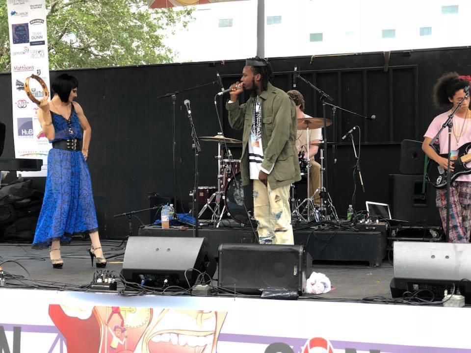 Irie Givens, Nathan Burnaman, ThatMinorityKid & Eleanor Sparklepuss @ Harvey Milk Festival - Sarasota, FL May 2018