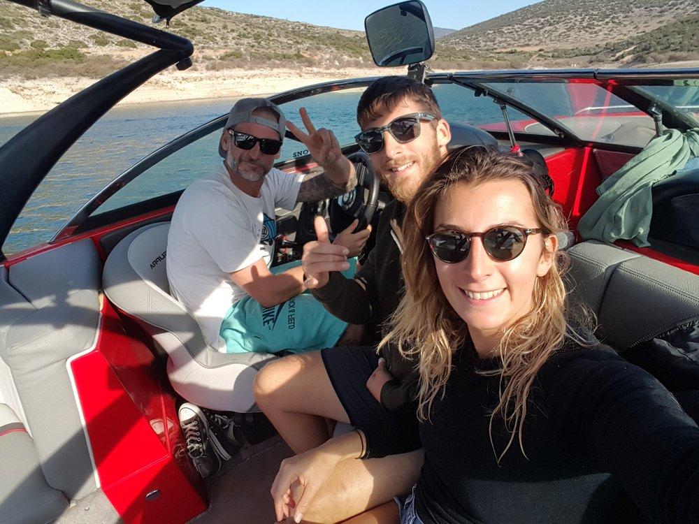 Wakeboarding at Lake Iliki with fellow Fitness Art-er Nikos!