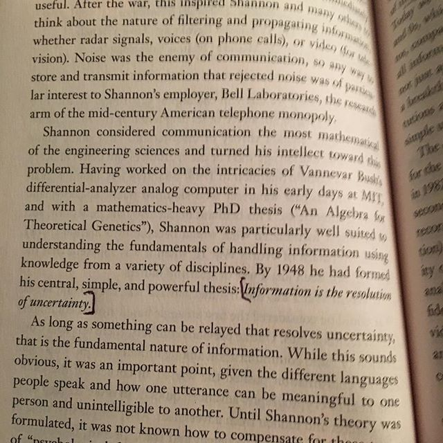 Information is the Resolution of Uncertainty, Andrew Lih / This Explains Everything, edited by John Brockman
