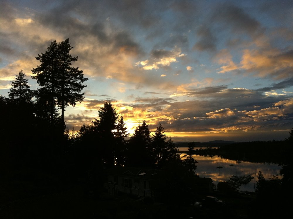 Sunrise on Lopez Island, iPhone 4
