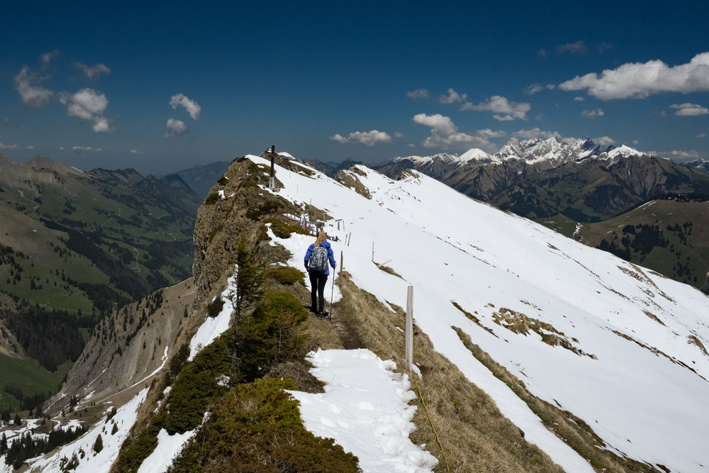Taking your phone on a hike is a no-brainer. Would you hike up here with a DSLR? – Swiss Alps, X-T10