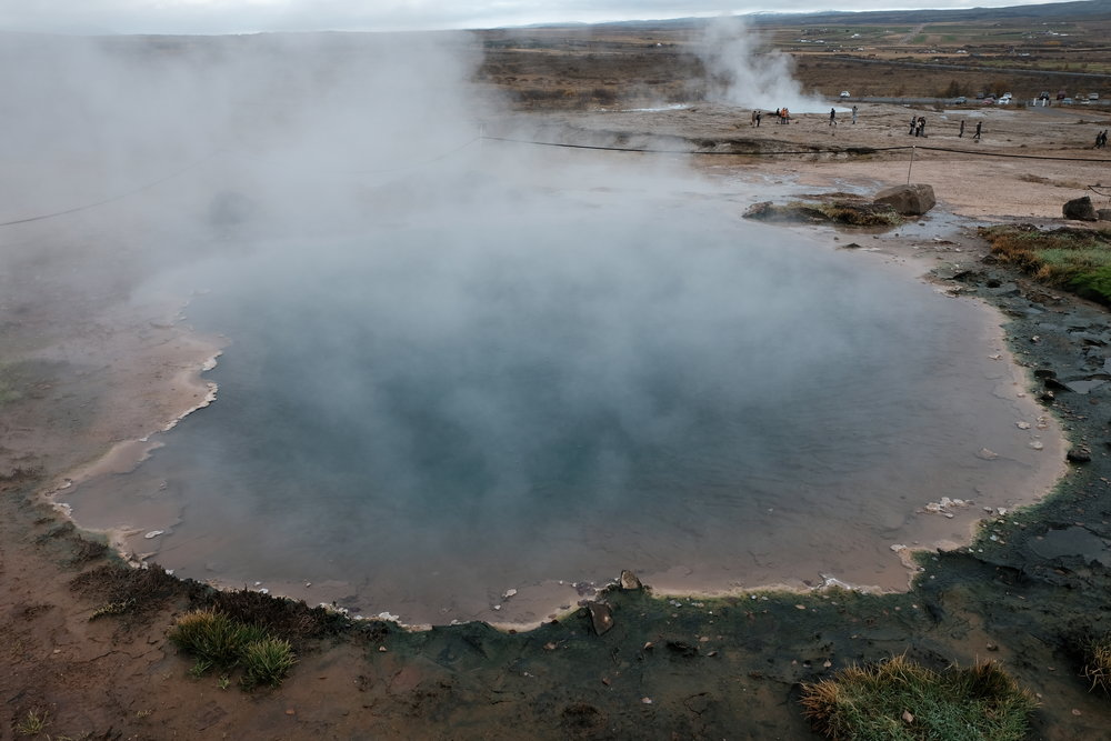 One of the geysers in Geysir area