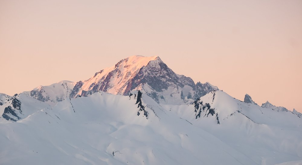 The last light of the day on Mont Blanc