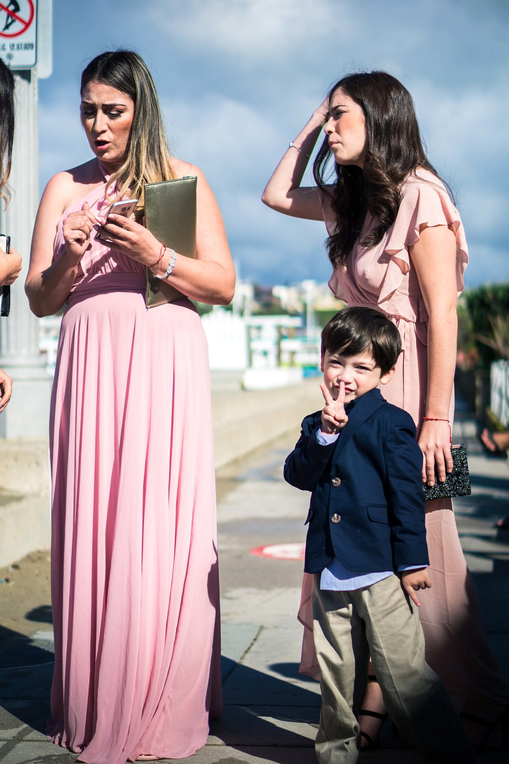The bridesmaid and mother and ringbearer