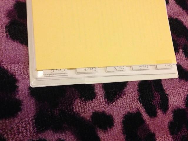 novel binder tabs