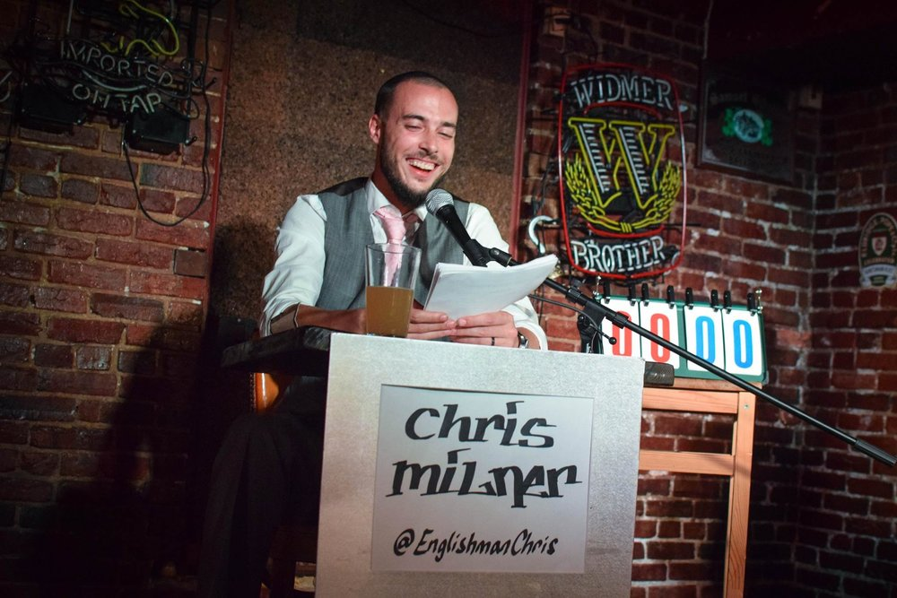 "Chris Milner is a stand-up comedian, comedy writer & actor, as well as creator & host of comedy/trivia panel show Specific Ignorance.    Chris has been performing comedy all over the United States since 2011 at clubs and festivals such as the DC Improv, Arlington Draft House, Go Bananas, Denver Comedy Works, Limestone Comedy Festival & Laugh Your Asheville Off Comedy Festival.Chris can be heard on Audible as well as Spotify, SiriusXM & NPR as a featured comedian on Season 3 of the globally acclaimed podcast ""2 Dope Queens""  Chris rarely uses sarcasm and NEVER refers to himself in the third person.  He also doesn't have, and never will have Facebook, so stop trying to find him on it. you won't."