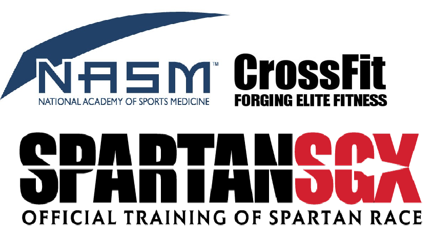 CREDENTIALS - NASM CERTIFIED PERSONAL TRAINERNASM YOUTH EXERCISE SPECIALISTCROSSFIT LEVEL 2CROSSFIT GYMNASTICSSPARTAN SGXSPARTAN OBSTACLE SPECIALISTMWOD MOBILITY 102 COACHUSAWeightlifting L1POSE Run Method Coach