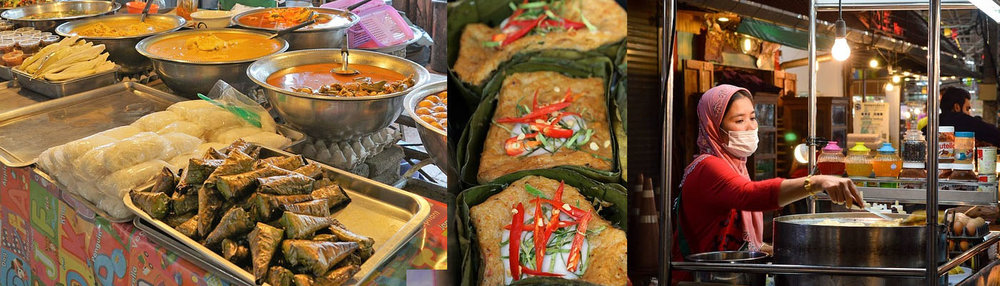 Sample Hawker food (street food), part of Singapore's local culinary heritage