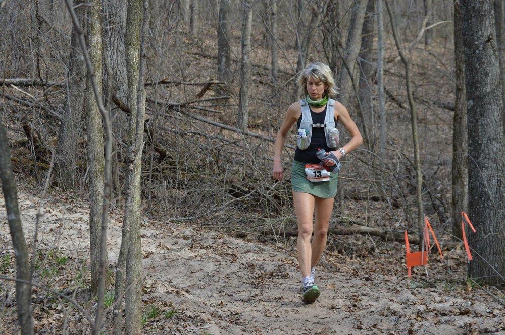 Susan Donnelly runs the mentally tough Zumbro 100 mile ultramarathon