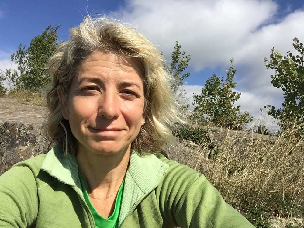 Susan Donnelly taking selfish time on the Superior Hiking Trail