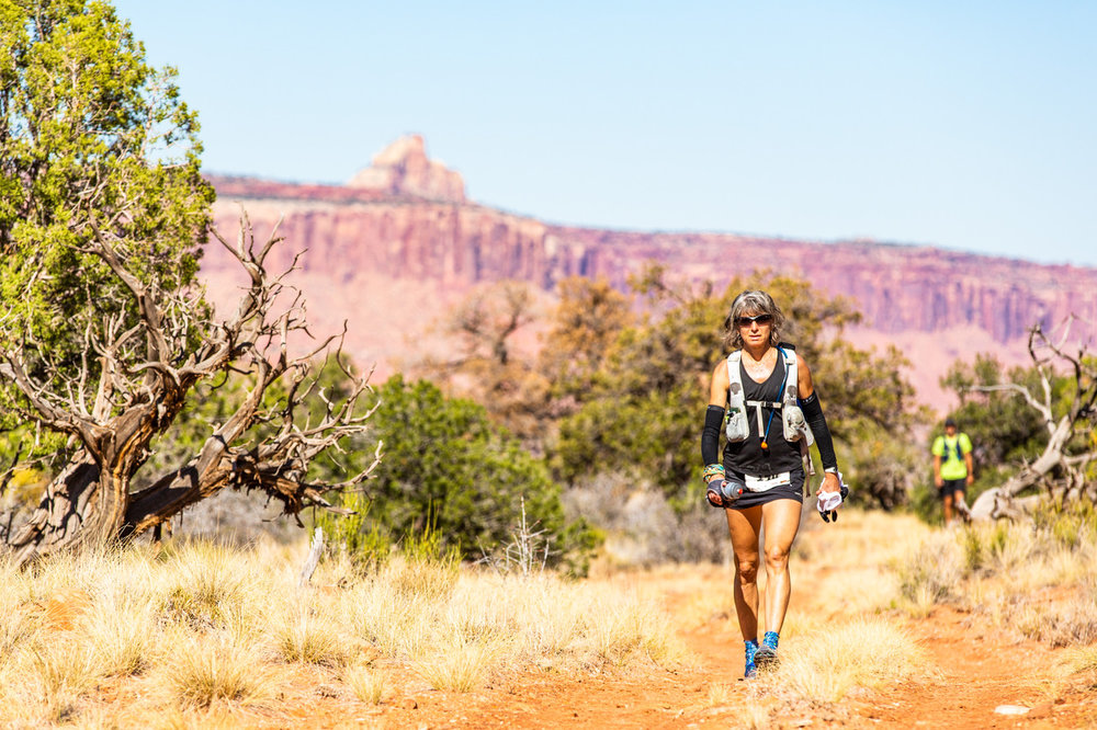 Susan Donnelly running the Moab 240 mile race