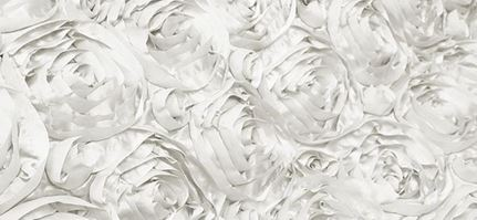 Satin White Roses Draped Backdrop