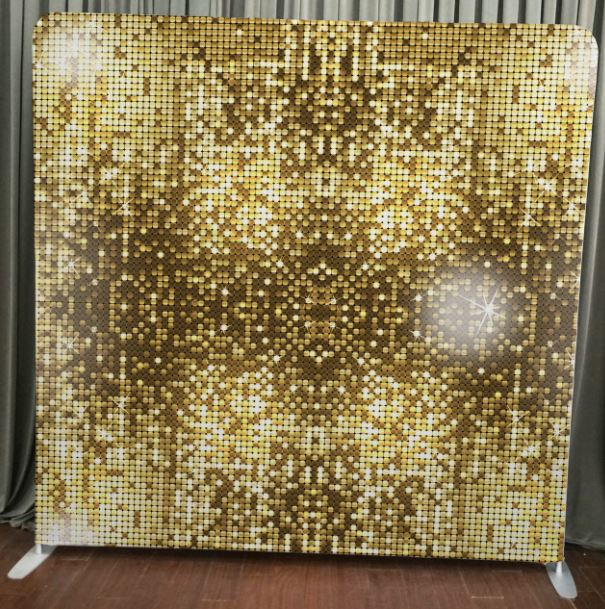 Gold Sparkle Stretch Backdrop