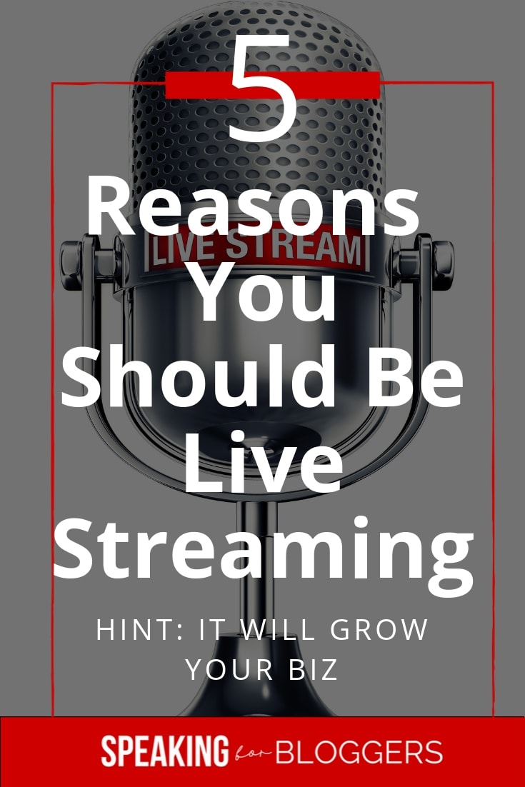Ready to grow your online business? There's no better way than live streaming and Facebook Live. Here are 5 ways to make your business stand out from the crowd. #facebooklive #instastory #livevideo