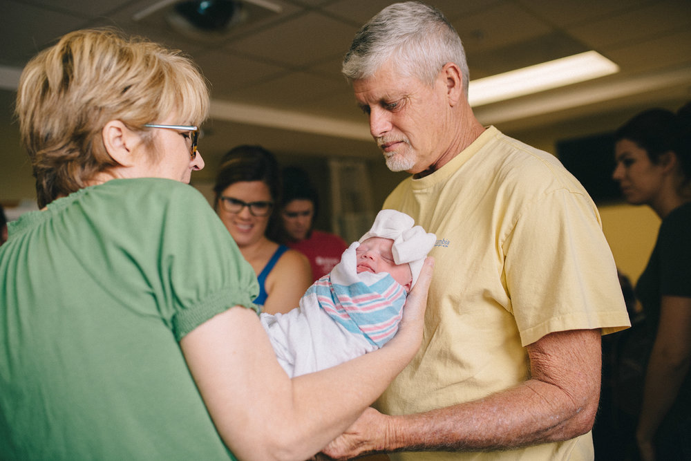 Grandparents meet new grand daughter in Warner Robins hospital