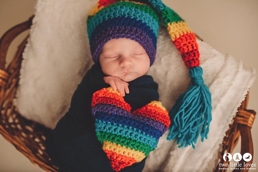 Rainbow set made by  Blissful Yarn