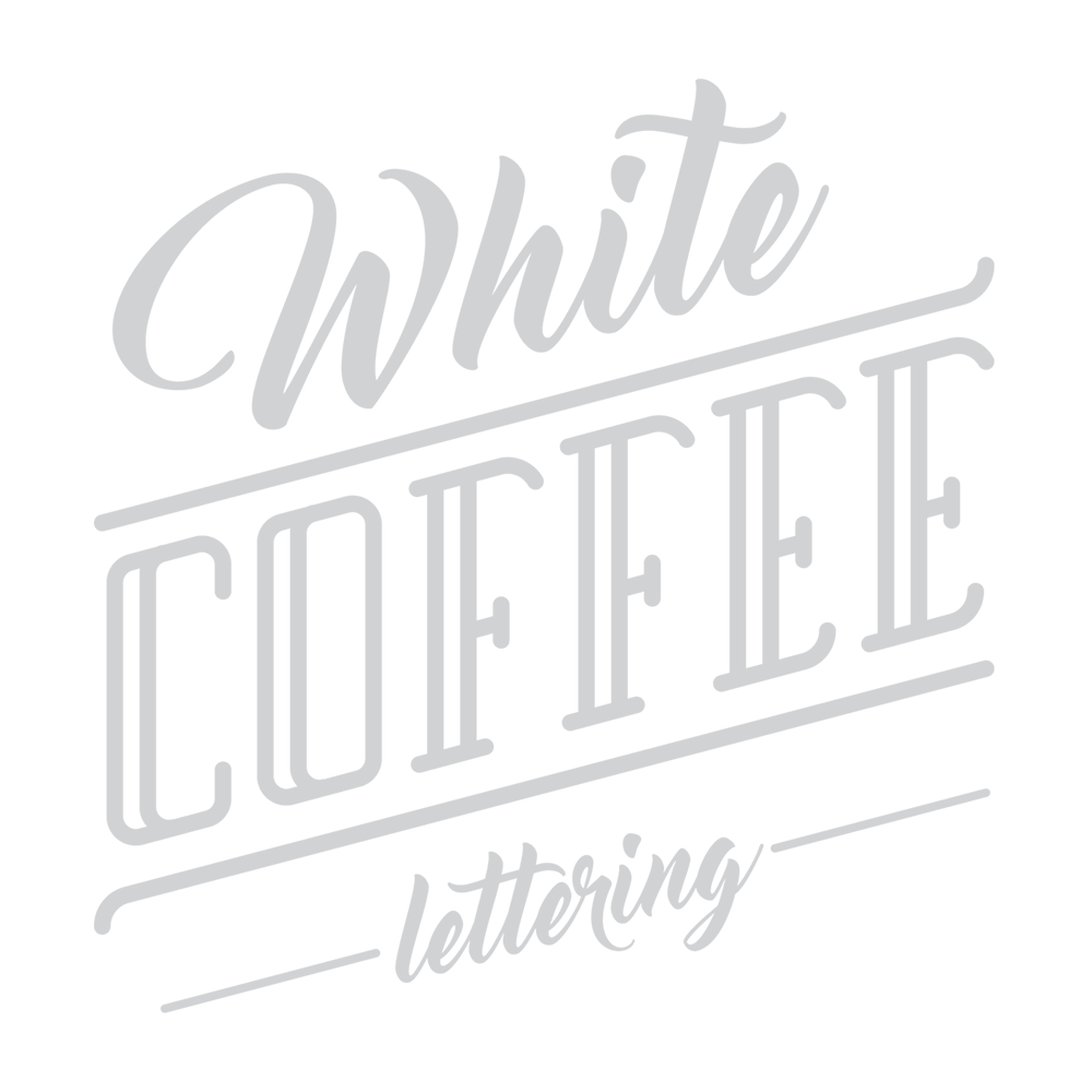 White Coffee Lettering