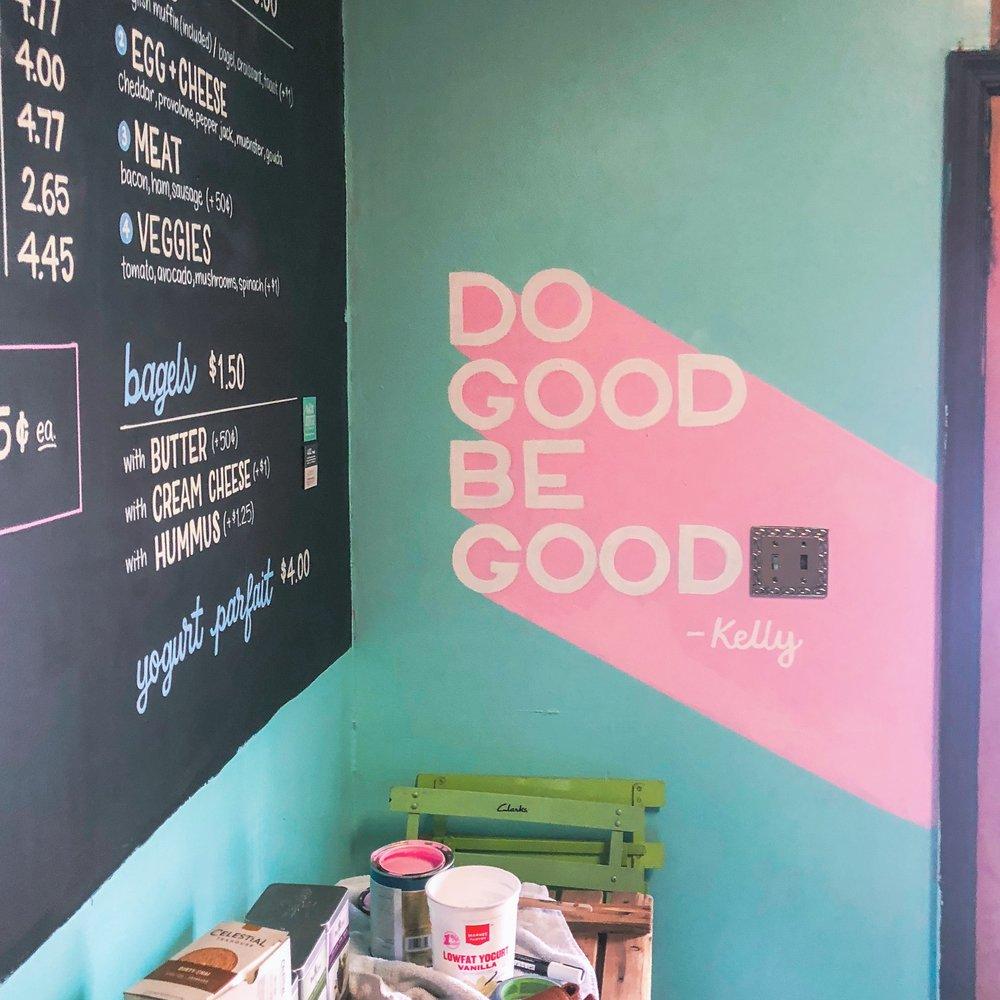 Café Latte Da — Lettering & Mural