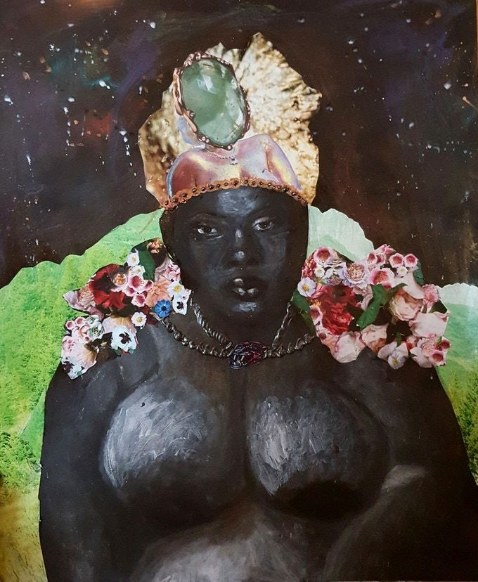 The Empress card from the Dust II Onyx: A Melanated Tarot deck by Courtney Alexander.