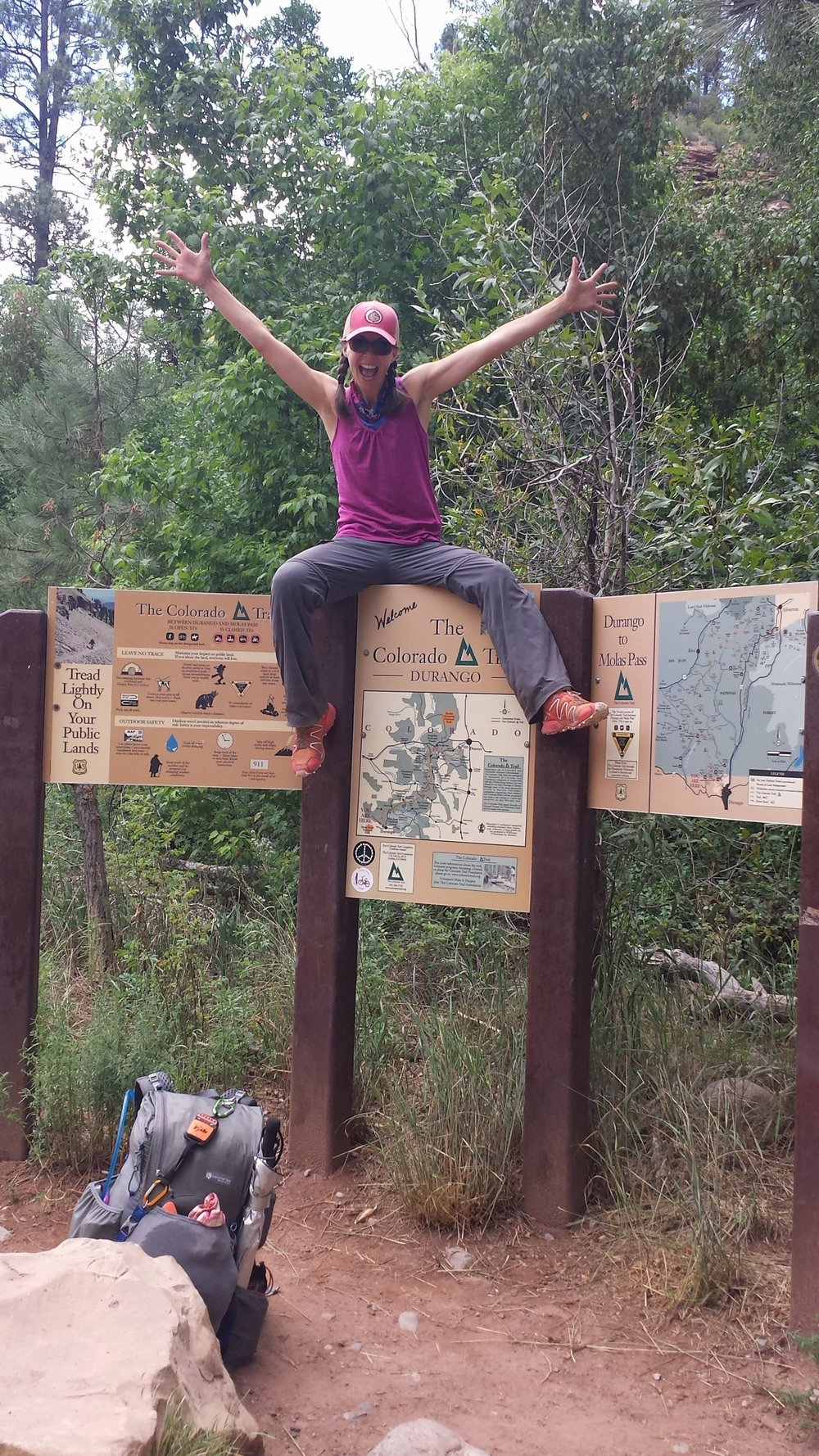 Segment 28 Becky at Junction Creek TH Durango.jpg
