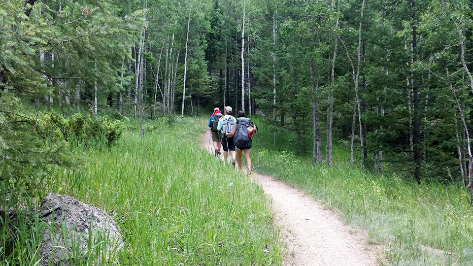 Day 4:  We headed to Rolling Creek Trailhead outside of Bailey. Hiking with my boys for a few days helped them better understand what I would be doing, day after day, for five weeks.  Daily mileage: 6.8. Total miles: 40.2.
