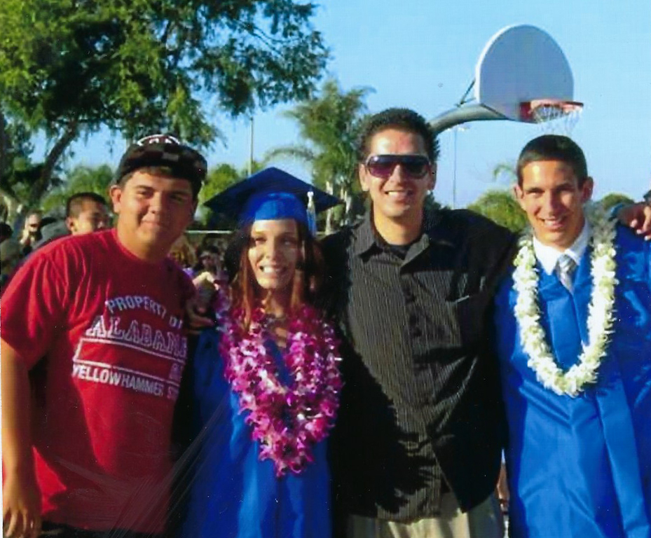 Cousins Brittany and Daniel's graduation from Pacifica High School in 2011. Brittany went on to receive her AA from Golden West Community College in 2017 and currently attends Cal State Fullerton.