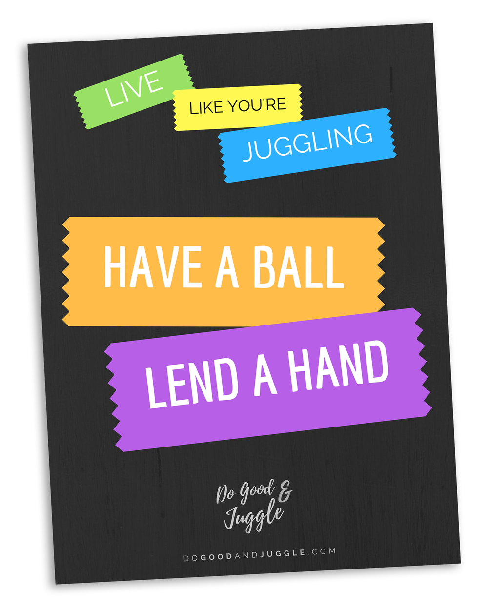 Motivational Poster POP Image - Have a Ball Lend a Hand.png