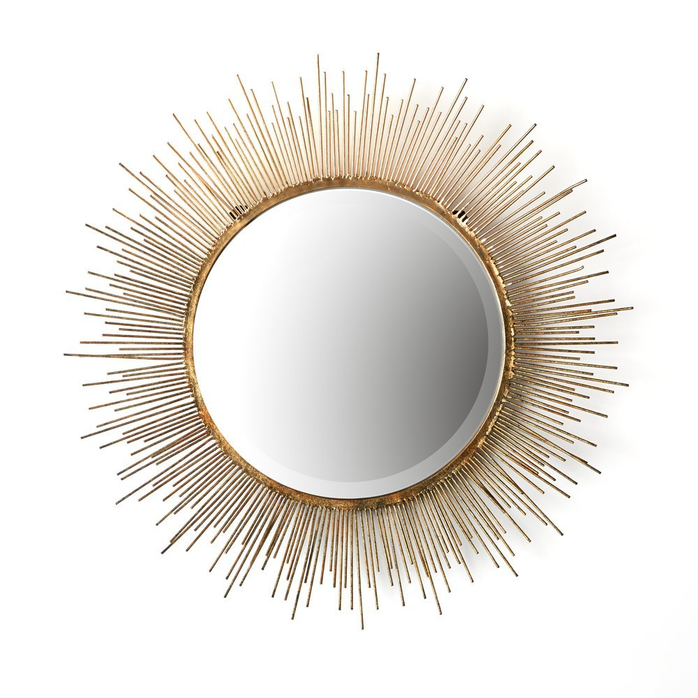 Twos company tozai gold starburst wall mirror decor for kids amipublicfo Choice Image