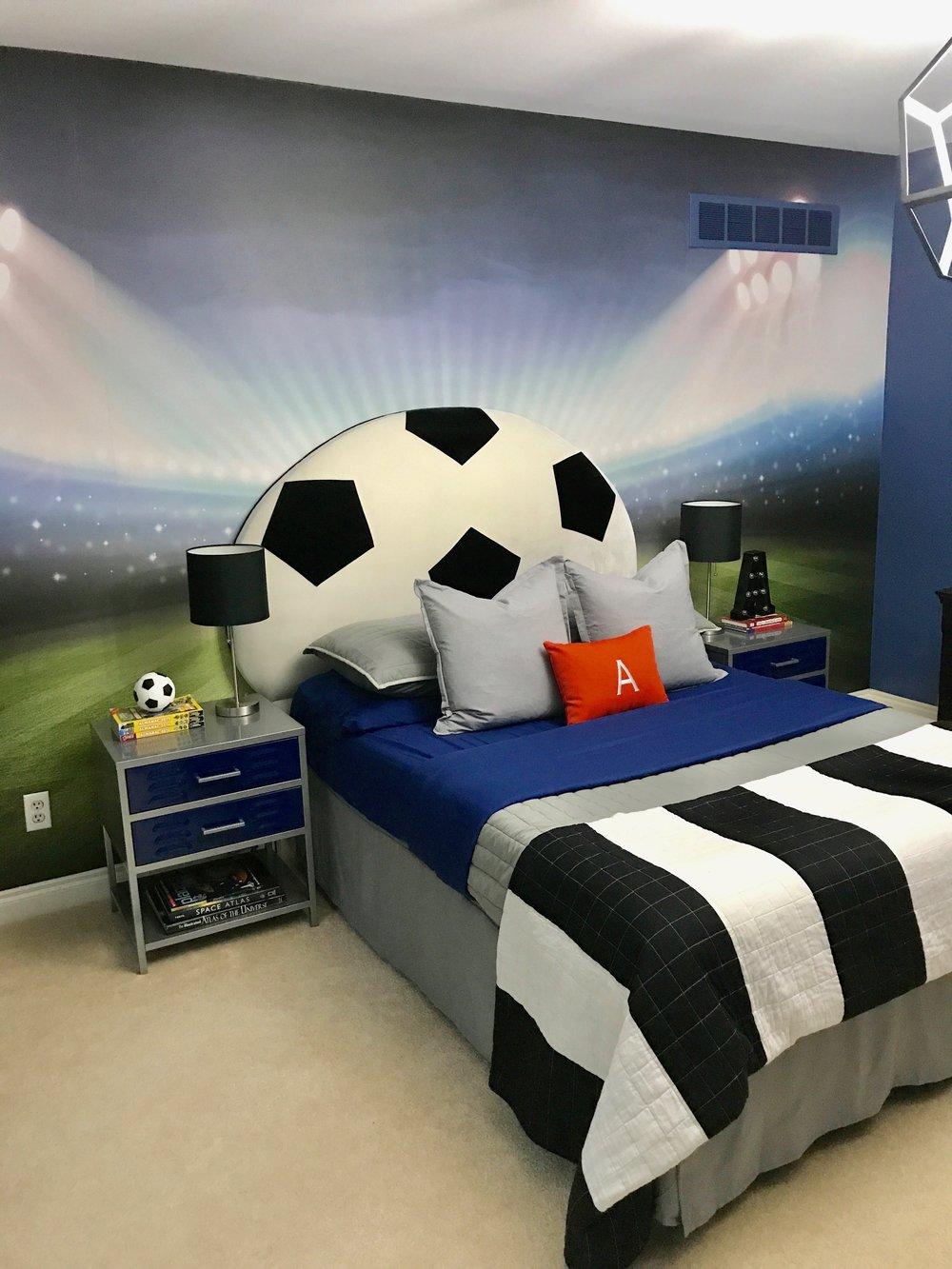 Decor for Kids, Dania Farhat, Soccer Boys Bedroom
