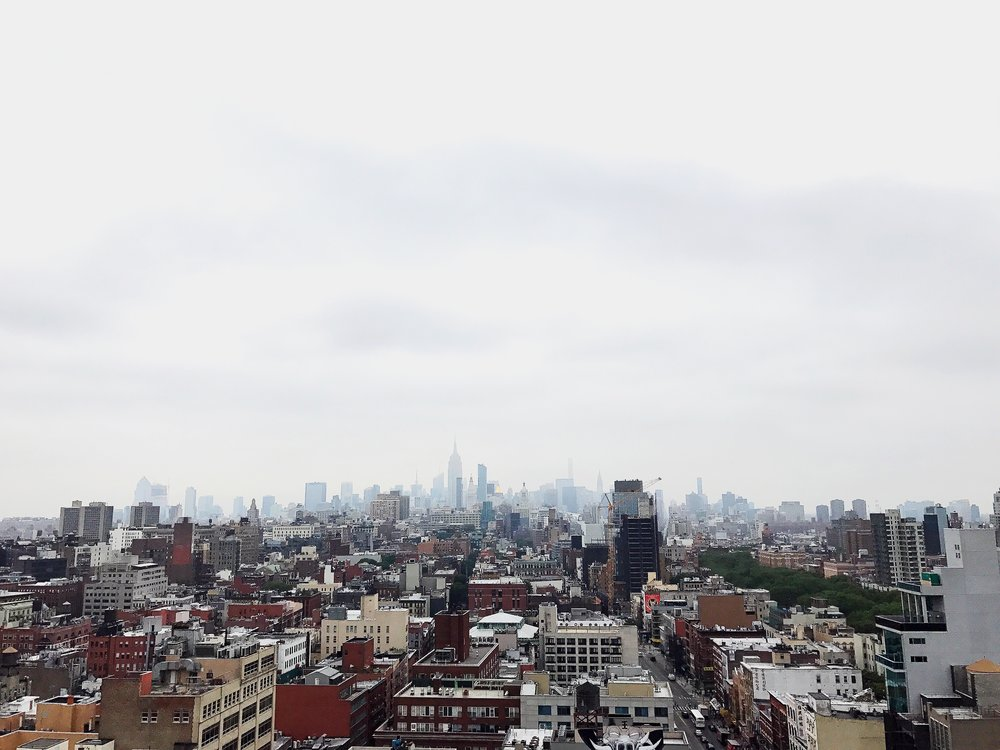 While the weather may have been dreary, views from the rootop of the newly opened Hotel 50 Bowery did not disappoint.