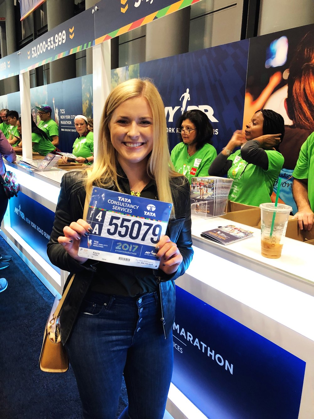 nyc marathon expo - every runner has to pick up their bib at the expo, held at the Javits
