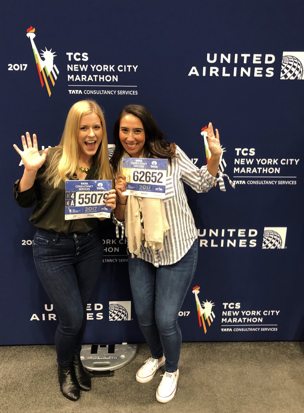 Showing some love to the official marathon sponsor, United Airlines, who took amazing care of us with special access to their weekend events.