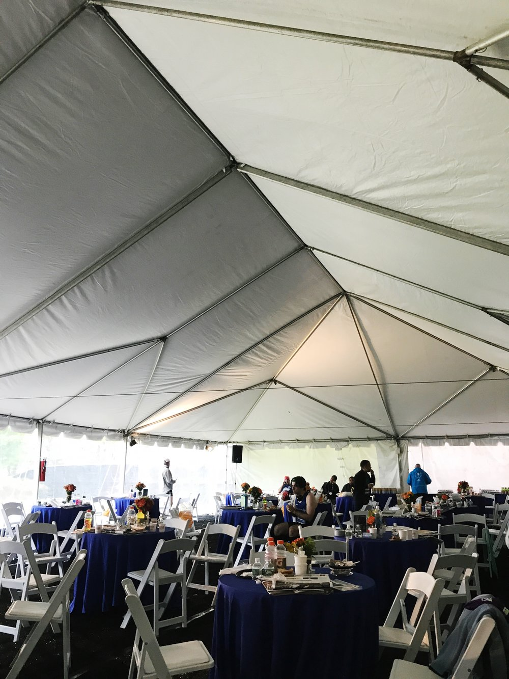 United Airlines tent - we were so grateful for the chance to keep warm and hydrated thanks to United Airlines
