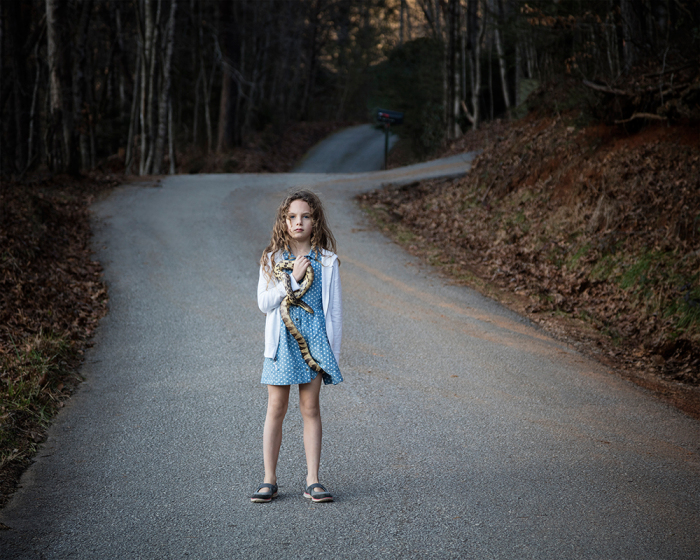 Untitled - Girl with Snake, Rabun, GA
