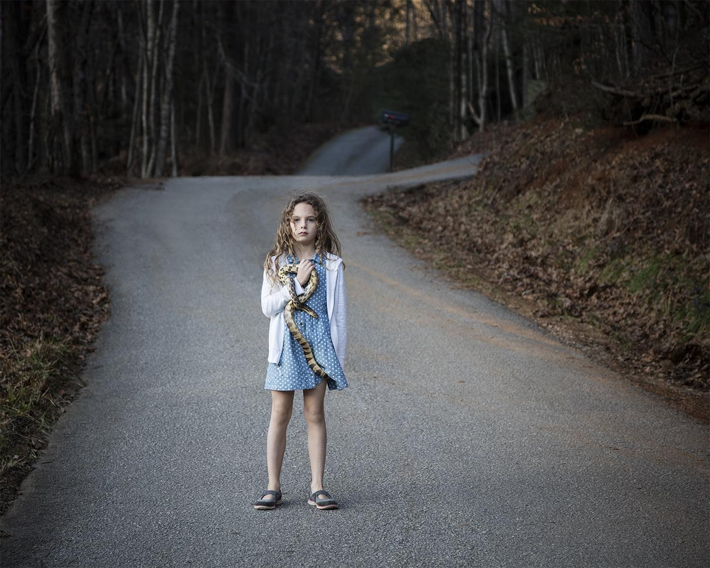Untitled - Girl with Snake, Rabun, GA_001