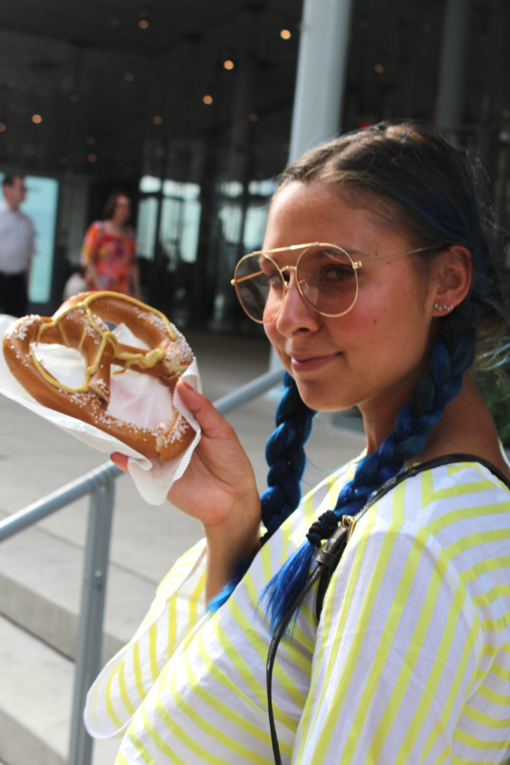 P.S. - So, I always look forward to grabbing a pretzel from a street vendor in NYC because well, they're bomb. BUT this pretzel was seriously SO awful and stiff and I was just very sad. Thought I'd let you know. It was $5. Still mad about it!!