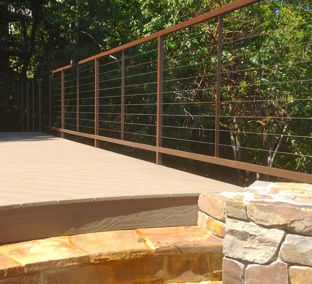 COMPOSITE DECK AND STEEL FRAME CABLE RAIL