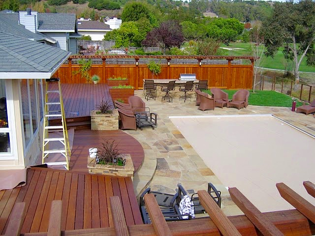IPE DECKS, FLAGSTONE PATIOS