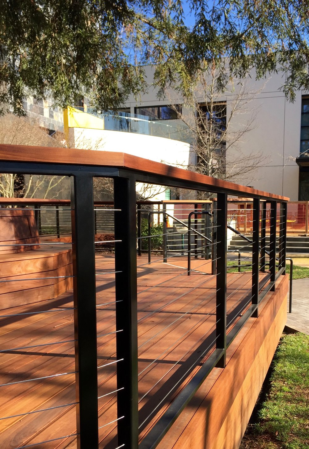 IPE DECK AND CABLE RAILINGS