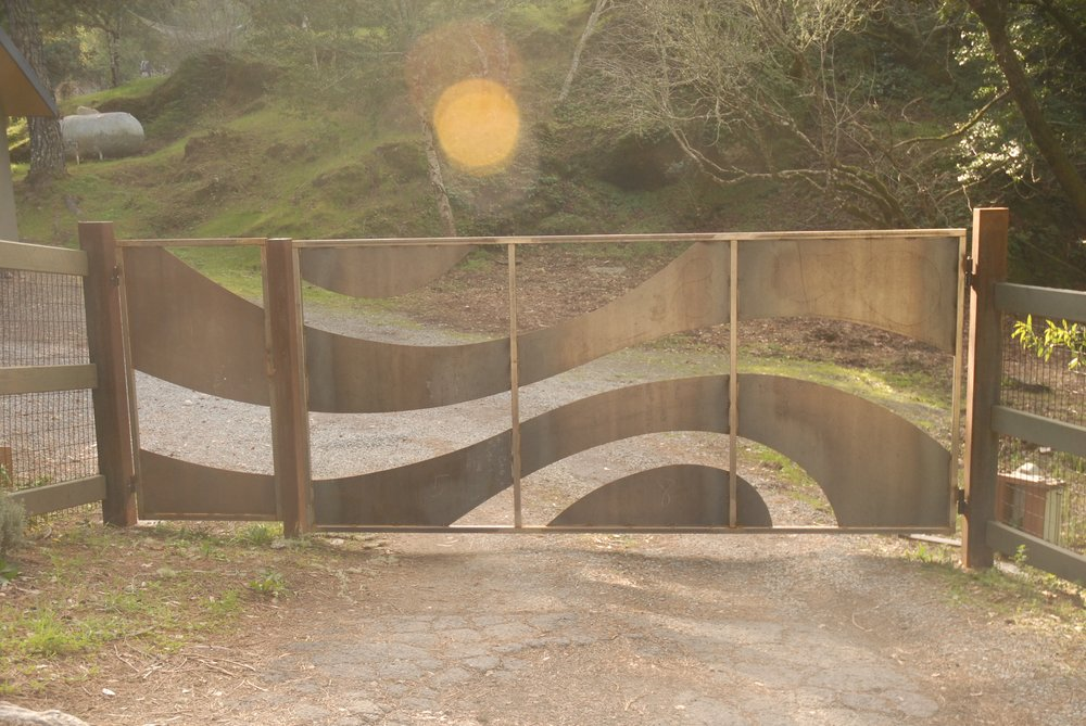 WEST MARIN STEEL SCULPTURAL GATE