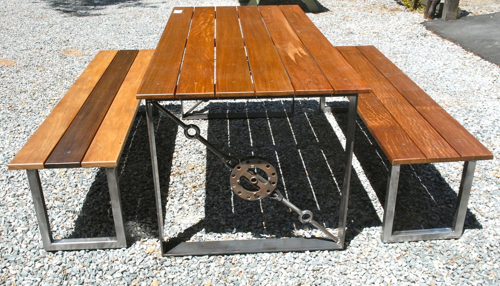 OUTDOOR DINING TABLE AND BENCHES WOOD: STEEL.jpg