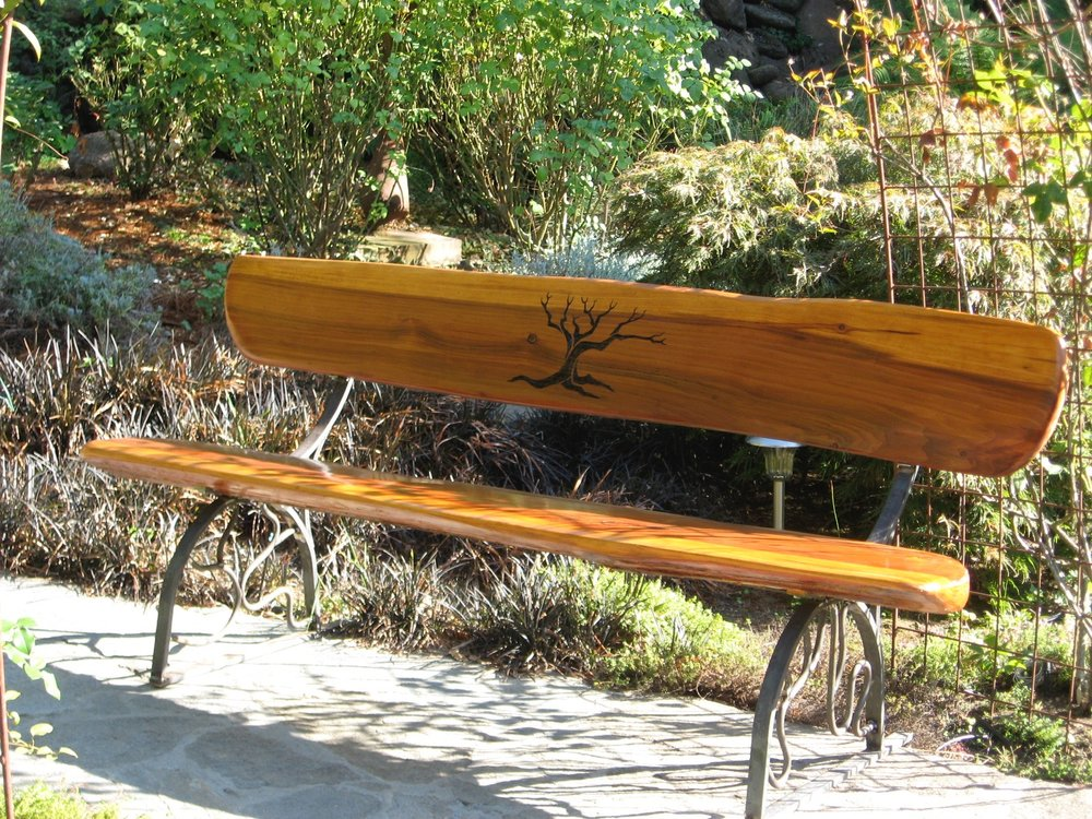GARDEN BENCH STEEL FRAME REDWOOD SLABS.jpg
