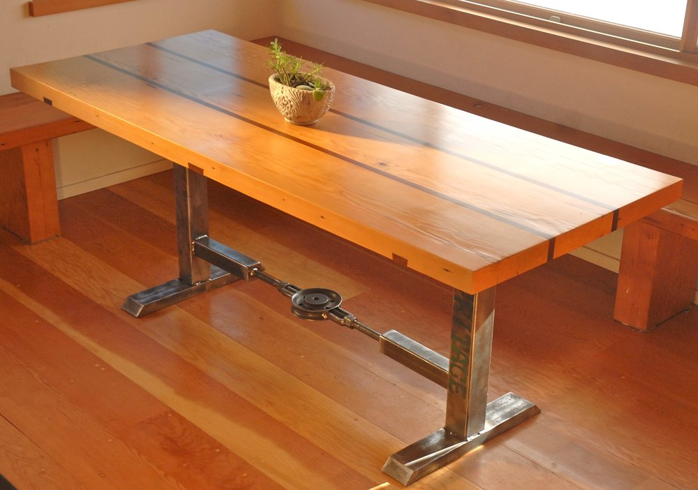 RECLAIMED WOOD TABLE W: STEEL BASE.jpg