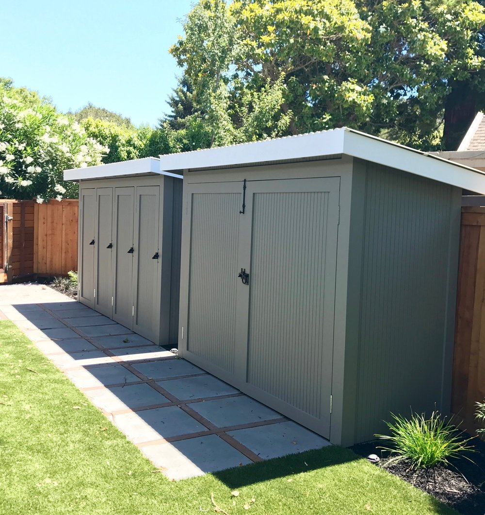 EICHLER STORAGE SHED + GARBAGE ENCLOSURE