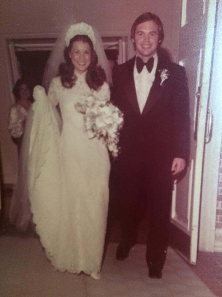 This is my mom and dad on their wedding day, January 10, 1976.