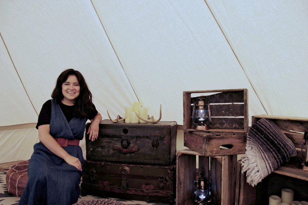 Inside The Campfire Experience's lounge tent