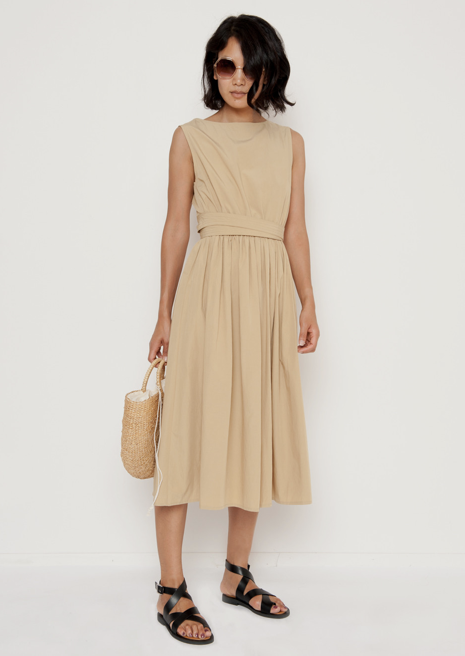 A neutral, wear everyday dress