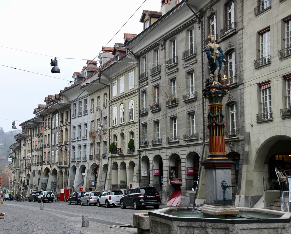 A street in Bern, characteristic of their architecture