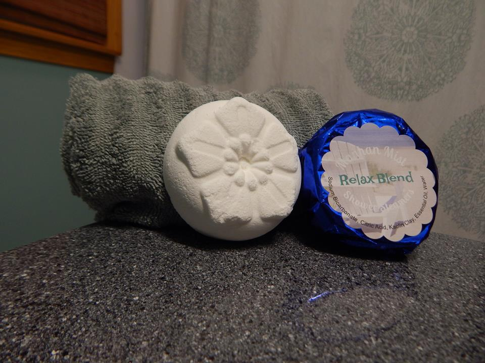 Manhan Mist Shower Steamers are - Like an aromatherapy bomb for your showerScented with essential oilsContain natural scent boosters, like menthol crystals (Peppermint) and dried lavender flowers (Mt. Tom Blend, Relax Blend)